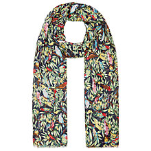 Buy John Lewis Parrot Branch Scarf, Green Online at johnlewis.com