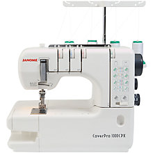 Buy Janome 1000CPX Coverpro Sewing Machine Online at johnlewis.com