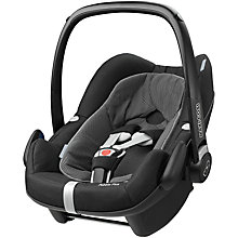 Buy Maxi-Cosi Pebble Plus i-Size Car Seat, Black Raven Online at johnlewis.com