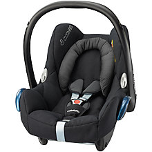 Buy Maxi-Cosi CabrioFix Baby Car Seat Group 0+, Black Raven Online at johnlewis.com