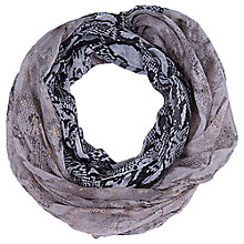 Buy Betty Barclay Snake Print Snood, Taupe/Back Online at johnlewis.com