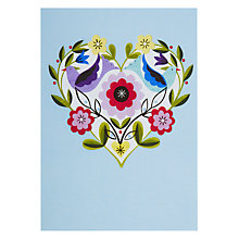 Buy Lagom Designs Flower Heart Ellen G Valentine's Card Online at johnlewis.com