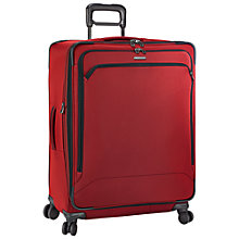 Buy Briggs & Riley Transcend 4-Wheel Expandable Large Suitcase, Crimson Online at johnlewis.com