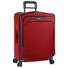 Buy Briggs & Riley Transcend Expandable 4-Wheel Medium Suitcase, Crimson Online at johnlewis.com