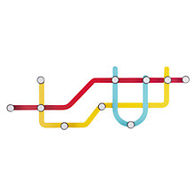 Buy Umbra Subway Hanging Rack, Multi Online at johnlewis.com