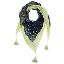 Buy Betty Barclay Tasseled Square Animal Print Scarf, Black/Blue Online at johnlewis.com