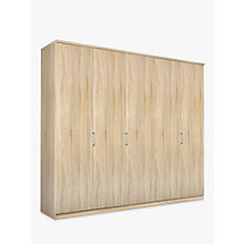 Buy John Lewis Elstra 250cm Wardrobe with Hinged Doors, Rustic Oak Online at johnlewis.com