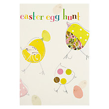 Buy Caroline Gardner Easter Egg Hunt Chicks With Egg Greeting Card Online at johnlewis.com