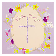 Buy Woodmansterne Easter Blessing Egg Greeting Card Online at johnlewis.com