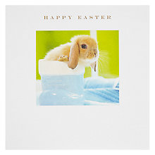 Buy Squares Bunny In Blue Boot Happy Easter Greeting Card Online at johnlewis.com