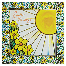 Buy Woodmansterne Girl & Sun Tiffany Studios Easter Greeting Card Online at johnlewis.com