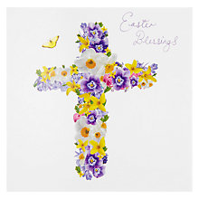 Buy Framed Spring Flowers In A Vase Easter Greeting Card Online at johnlewis.com