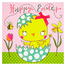 Buy Easter Chiffon Happy Easter Chick In Egg Greeting Card Online at johnlewis.com