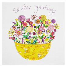 Buy Woodmansterne Pink Flower Bowl Easter Greeting Card Online at johnlewis.com