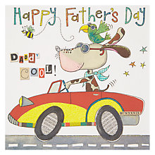 Buy Rachel Ellen Daddy Cool Dog In Sports Car Father's Day Card Online at johnlewis.com