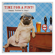 Buy Paperlink Time For A Pint Father's Day Card Online at johnlewis.com