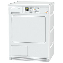 Buy Miele TDA140 Condenser Tumble Dryer, 7kg Load, B Energy Rating, White Online at johnlewis.com