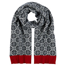 Buy NW3 by Hobbs Fairisle Scarf, Navy Multi Online at johnlewis.com