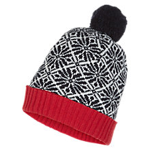 Buy NW3 by Hobbs Fairisle Hat, Navy Multi Online at johnlewis.com
