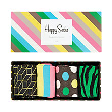 Buy Happy Socks Pattern Sock Gift Set, Pack of 4, One Size, Multi Online at johnlewis.com