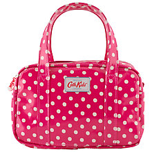 Buy Cath Kidston Children's Little Spot Mini Zip Bag, Raspberry Online at johnlewis.com
