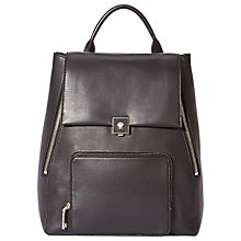 Buy Modalu Agatha Small Leather Rucksack Bag, Black Online at johnlewis.com