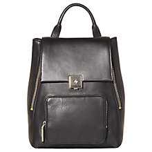 Buy Modalu Agatha Large Leather Rucksack, Black Online at johnlewis.com