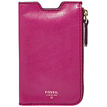 Buy Fossil Giftable Phone Sleeve Wallet, Fuchsia Online at johnlewis.com