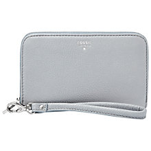 Buy Fossil Sydney Zip Phone Wallet, Smokey Blue Online at johnlewis.com