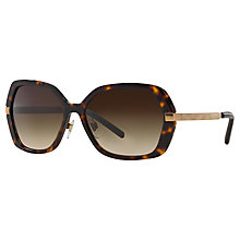 Buy Burberry BE4153Q Square Frame Sunglasses, Dark Havana Online at johnlewis.com