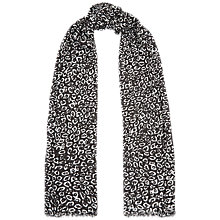 Buy Jaeger Snow Leopard Spot Print Scarf, Black/White Online at johnlewis.com
