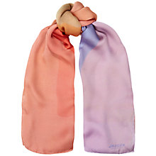 Buy Jaeger Klee Silk Satin Abstract Scarf, Pink Online at johnlewis.com