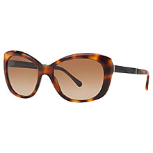 Buy Burberry BE4164 Butterfly Frame Sunglasses, Light Havana Online at johnlewis.com