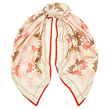 Buy Jaeger Sheep Print Square Scarf, Coral Online at johnlewis.com