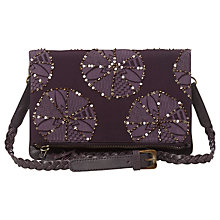 Buy White Stuff Embroidered Clutch Bag, Kimono Purple Online at johnlewis.com