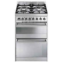 Buy Smeg SY62MX8 Dual Fuel Cooker, Stainless Steel Online at johnlewis.com