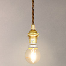 Buy Calex BC Pendant, Polished Brass Online at johnlewis.com