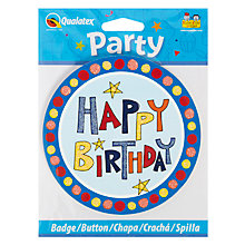 Buy Rachel Ellen Birthday Badge Online at johnlewis.com