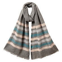 Buy East Wool Blend Striped Scarf, Multi Online at johnlewis.com