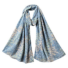 Buy East Leopard Print Scarf, Blue Online at johnlewis.com