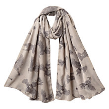 Buy East Rosa Bird Print Scarf, Smoke Online at johnlewis.com