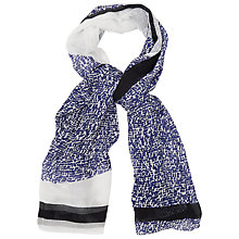 Buy L.K. Bennett Io Printed Scarf, Blue Regal Online at johnlewis.com