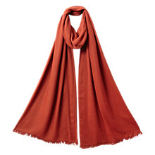 Buy East Cashmere Blend Scarf, Ginger Online at johnlewis.com