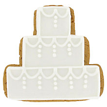 Buy Image on Food Tiered Wedding Cake Biscuit, 60g Online at johnlewis.com