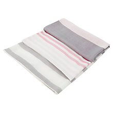 Buy Viyella Silk Stripe Scarf, Smokey Lavender Online at johnlewis.com