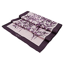 Buy Viyella Lily Silk Scarf, Smokey Lavender Online at johnlewis.com