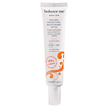 Buy Balance Me Natural Protection Moisturiser SPF25, 40ml Online at johnlewis.com