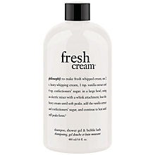 Buy Philosophy Fresh Cream Shower Gel, 480ml Online at johnlewis.com