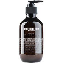 Buy Grown Alchemist Hand Wash, Sweet Orange, Cedarwood & Sage Online at johnlewis.com