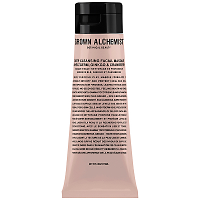 shop for Grown Alchemist Deep Cleansing Masque: Wheatgerm, Ginkgo & Cranberry, 65ml at Shopo